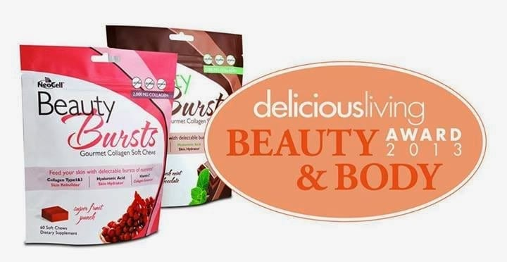 NEOCELL-Beauty-Bursts-Collagen-60-Soft-Chews-deliciousliving-beauty-and-body-winner_2013