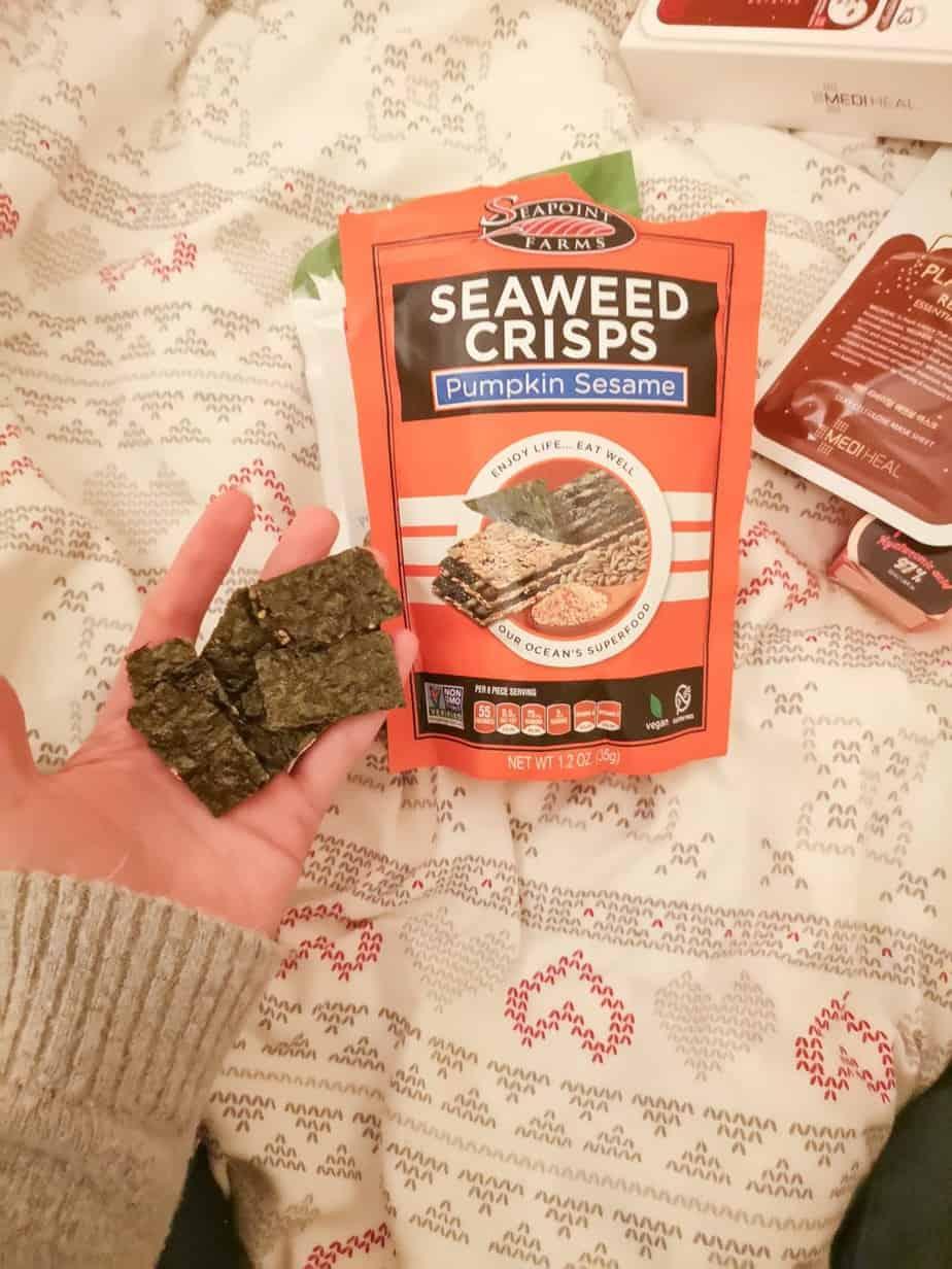 Полезный перекус с iherb водорослевые снэки Seaweed crisps