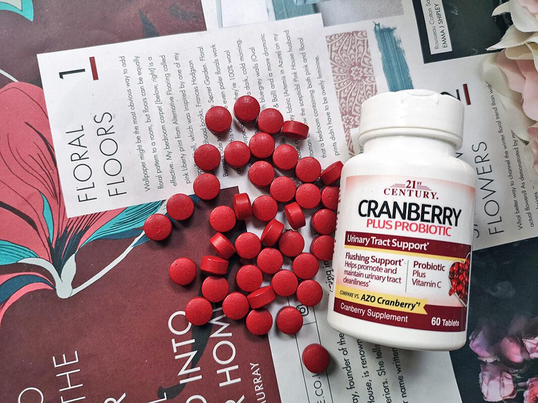 Женские пробиотики с клюквой 21th century Cranberry Plus Probiotic