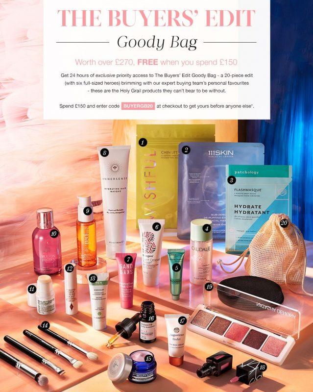 Наполнение Cult Beauty Goody Bag Autumn 2020