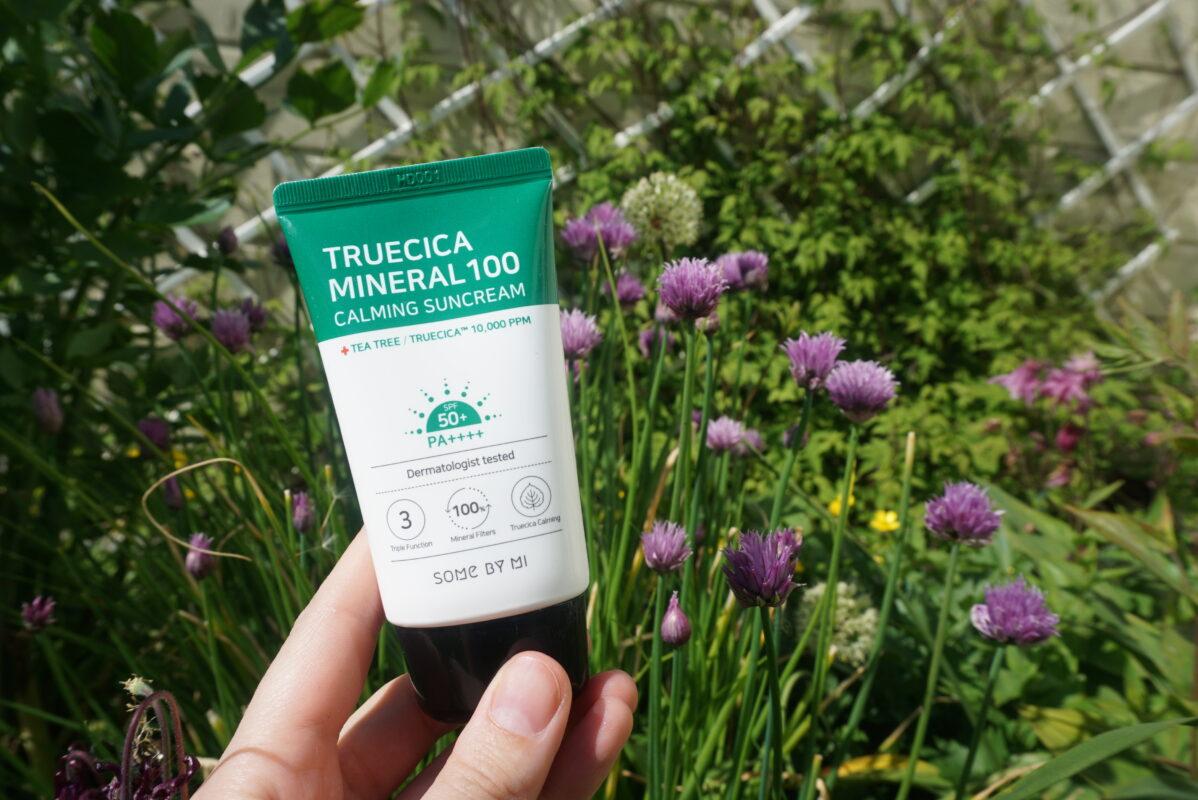 Крутой корейский санскрин Some By Mi Truecica Mineral 100 Calming Suncream SPF50 PA++++
