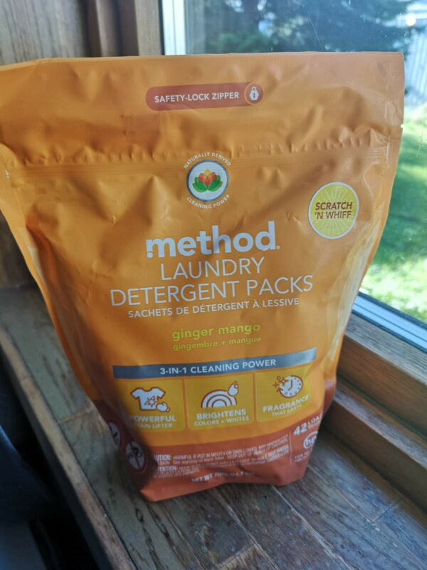 Гель для стирки Method Laundry Detergent Packs Ginger Mango